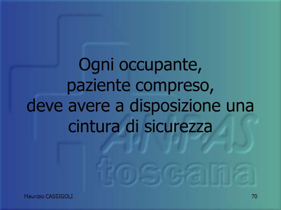 Maurizio CASSIGOLI69 Il numero massimo di occupanti e la loro disposizione è specificata sul LIBRETTO DI CIRCOLAZIONE