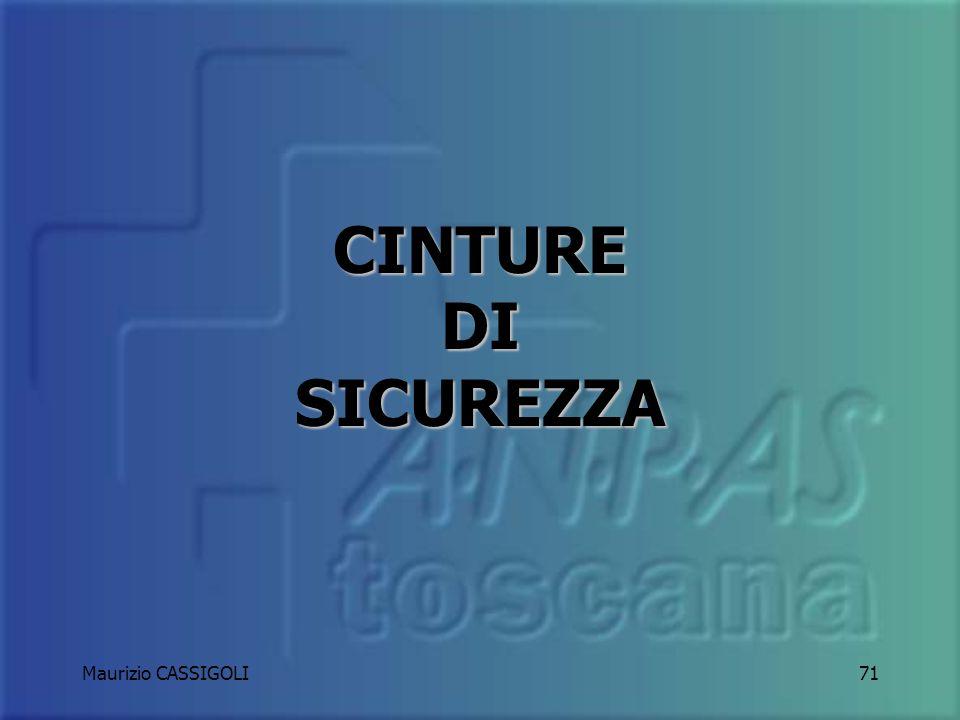 Maurizio CASSIGOLI70 Ogni occupante, paziente compreso, deve avere a disposizione una cintura di sicurezza