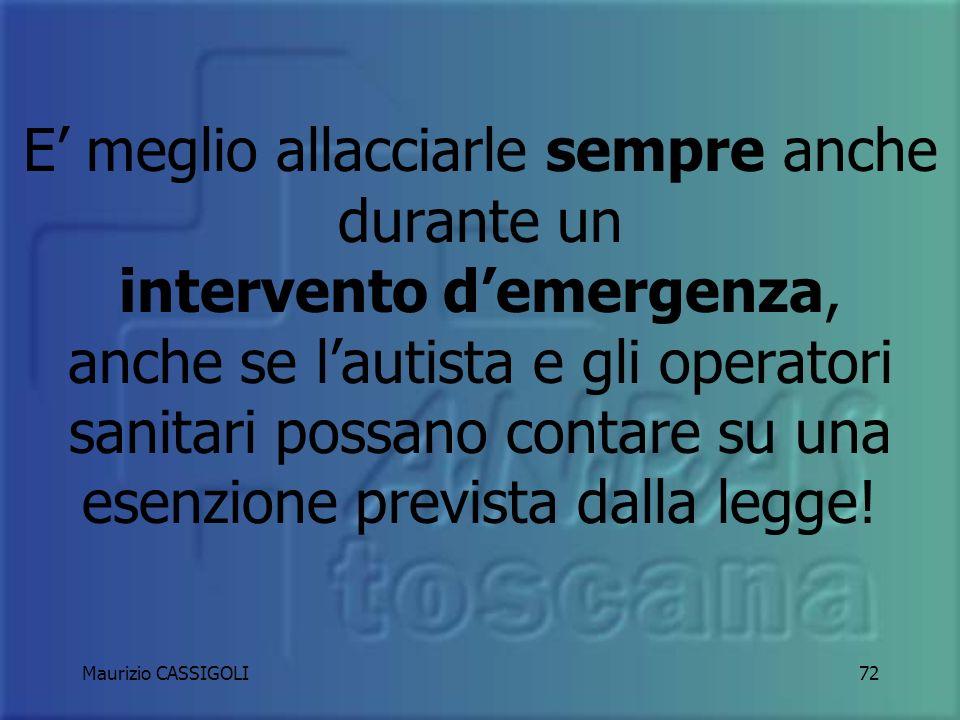 Maurizio CASSIGOLI71 CINTURE DI SICUREZZA