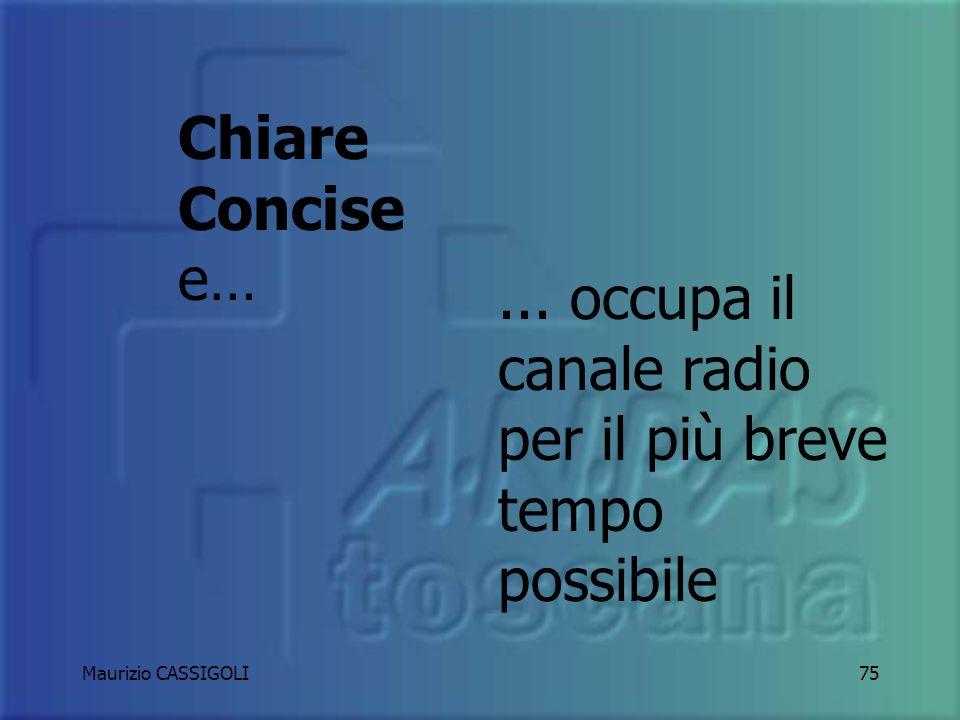 Maurizio CASSIGOLI74 CENNI SULLE COMUNICAZIONI RADIO
