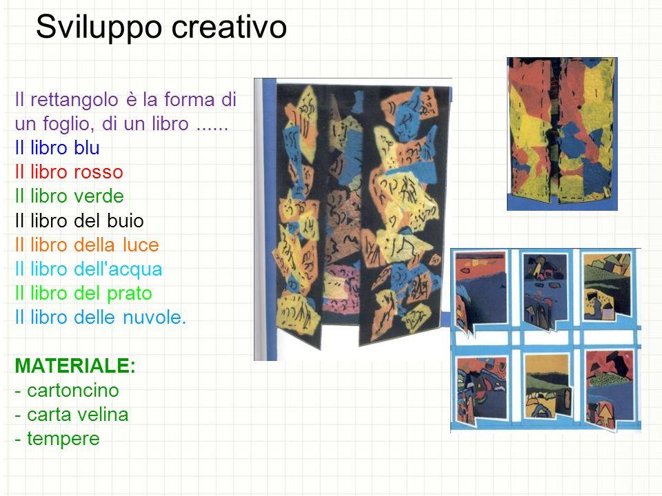 Sviluppo creativo Il rettangolo è la forma di un foglio, di un libro......