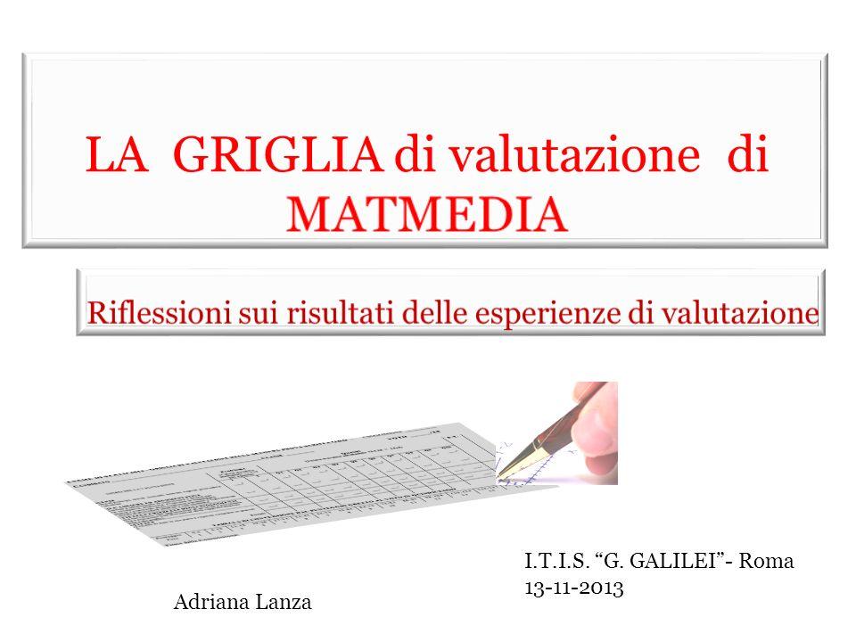 I.T.I.S. G. GALILEI- Roma 13-11-2013 Adriana Lanza