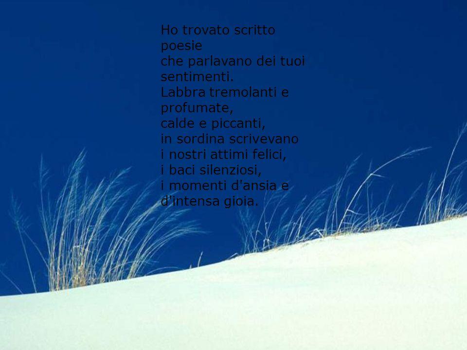 Diapositiva sommario Ho letto le tue labbra con un bacio, c'era scritto l'amore che mi dai. Parole scolpite dal vento sulla sabbia decorata di conchig