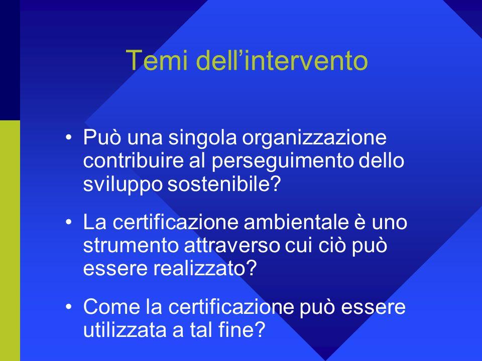 Concludendo: quali prospettive per la certificazione nel solco della sostenibilità.