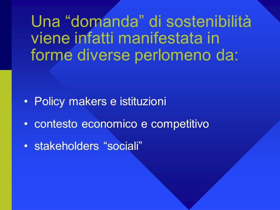 Ma cosè lo sviluppo sostenibile per una singola organizzazione? Sviluppo Sostenibile come situazione ideal- tipica e insieme di principi-guida diffico