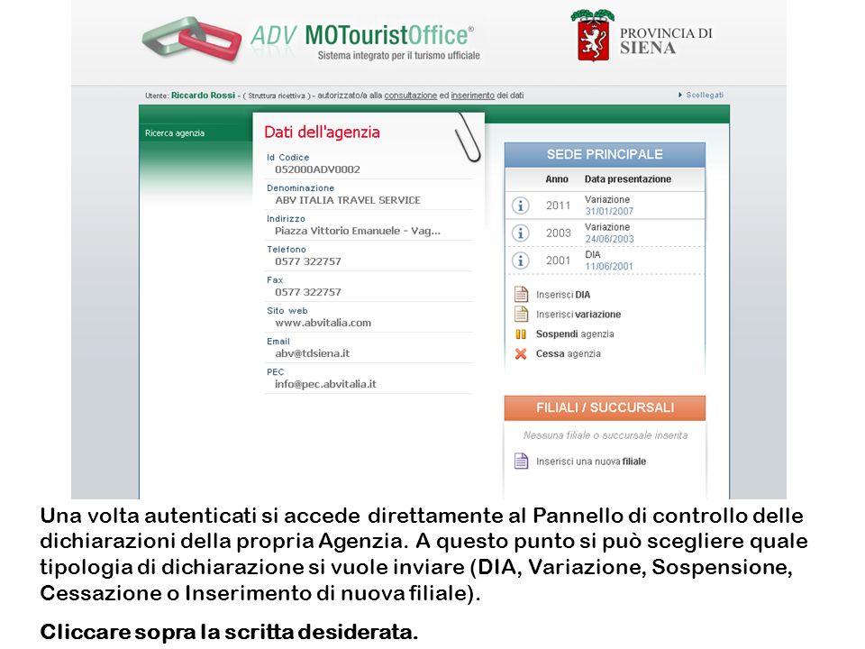Si accede al modello online della dichiarazione prescelta.