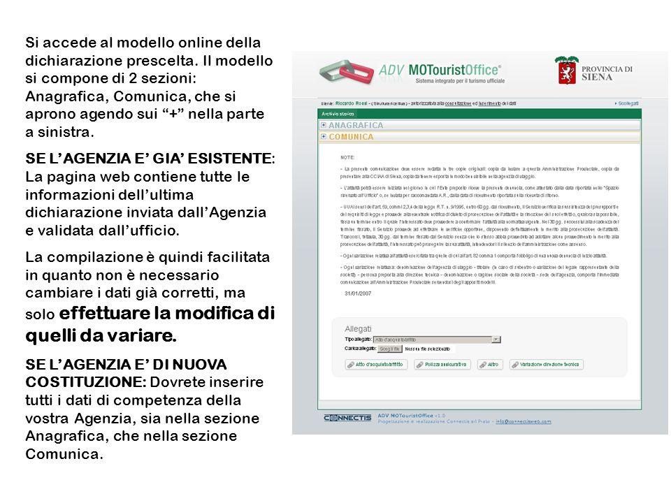 Una volta inseriti tutti i dati della nuova dichiarazione è necessario immettere la data della dichiarazione e Cliccare sul bottone Crea Dichiarazione.