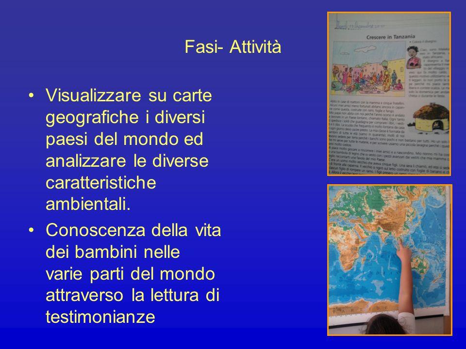 Ascoltare, comprendere e rielaborare miti, leggende, fiabe provenienti dai diversi continenti Visualizzare su carte geografiche i diversi paesi ed ana