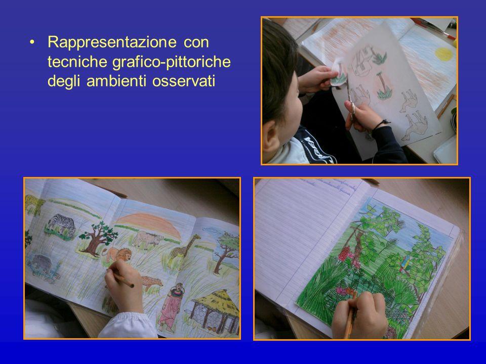 Rappresentazione con tecniche grafico-pittoriche degli ambienti osservati