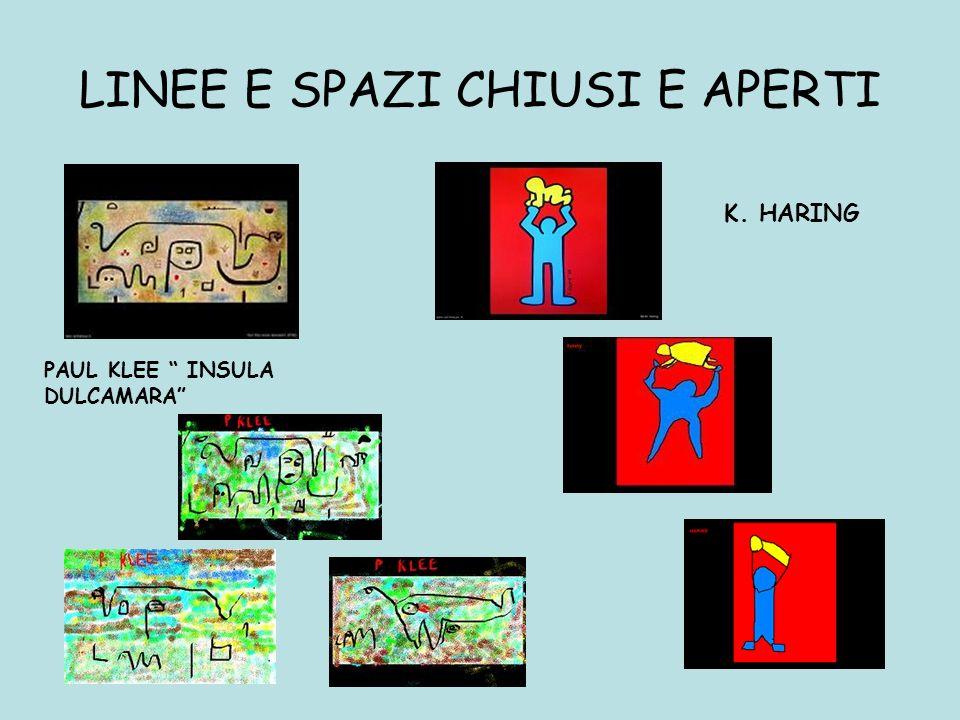 LINEE E SPAZI CHIUSI E APERTI PAUL KLEE INSULA DULCAMARA K. HARING