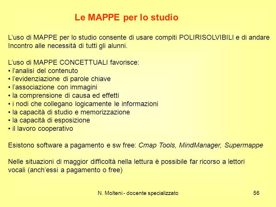 Luso di MAPPE per lo studio consente di usare compiti POLIRISOLVIBILI e di andare Incontro alle necessità di tutti gli alunni. Luso di MAPPE CONCETTUA