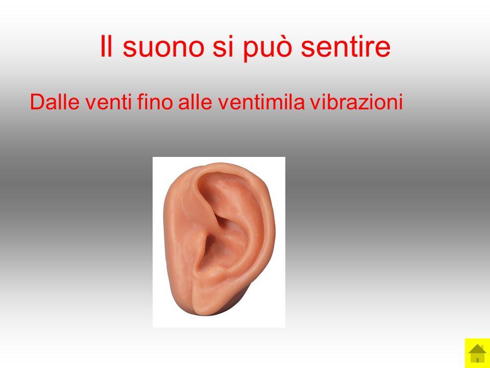 Il suono non si può sentire A più di 20000 a meno di 20 vibrazioni vibrazioni che si dicono che si dicono ultrasuoni infrasuoni