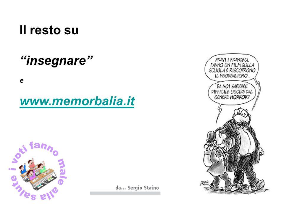 Il resto su insegnare e www.memorbalia.it