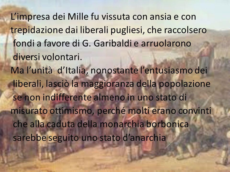 Il 21 ottobre 1860 tutti i cittadini pugliesi di età superiore ai ventun anni furono chiamati alle urne per esprimersi sullannessione delle province meridionali al Regno dItalia.