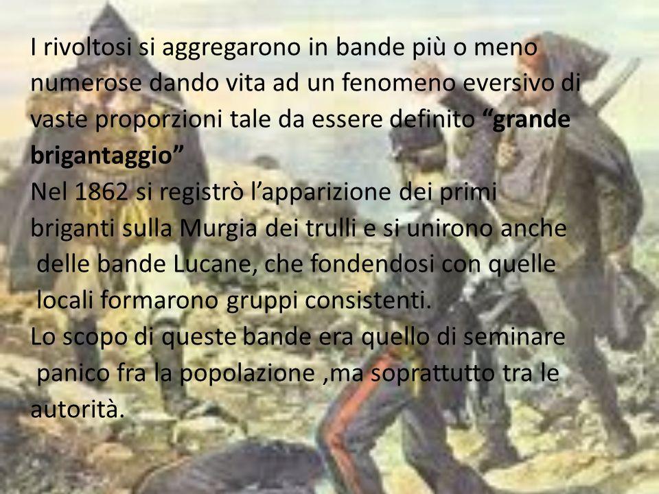 Il brigantaggio nella Murgia dei Trulli resse fino a quando non venne ucciso il suo capo carismatico, il sergente Pasquale Romano di Gioia del Colle, che era arrivato ad arruolare decine di migliaia di seguaci, dispersi poi in piccole bande criminali.