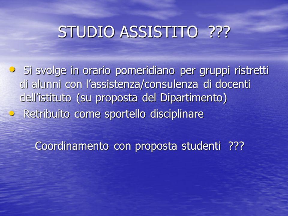 STUDIO ASSISTITO .