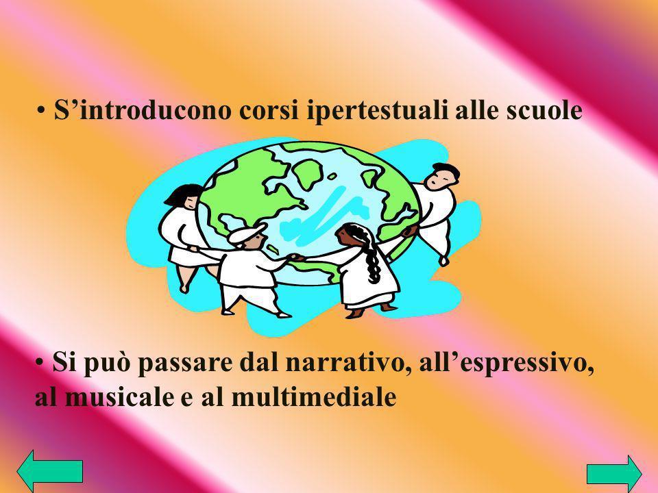 Sintroducono corsi ipertestuali alle scuole Si può passare dal narrativo, allespressivo, al musicale e al multimediale