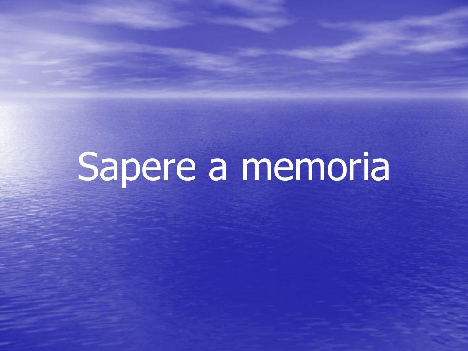 Sapere a memoria