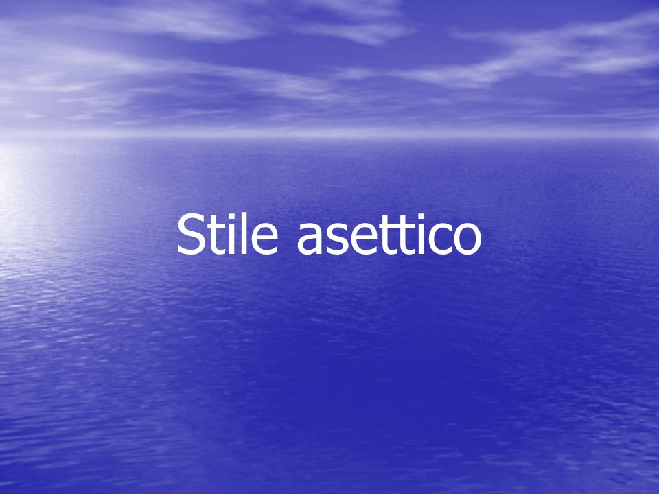 Stile asettico