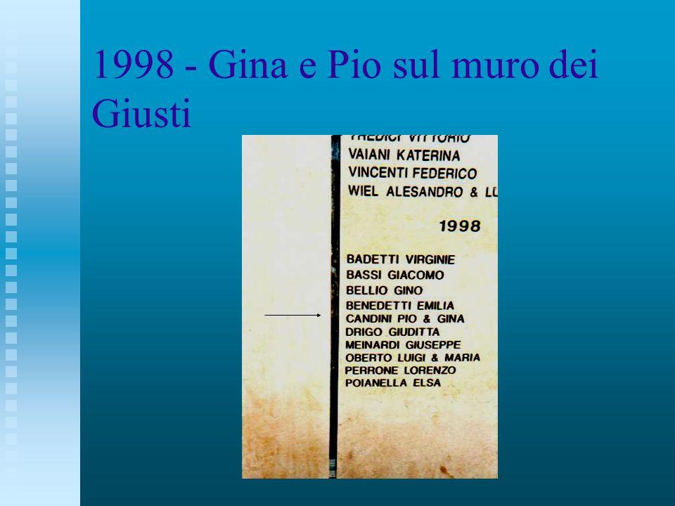 1998 - Gina e Pio sul muro dei Giusti
