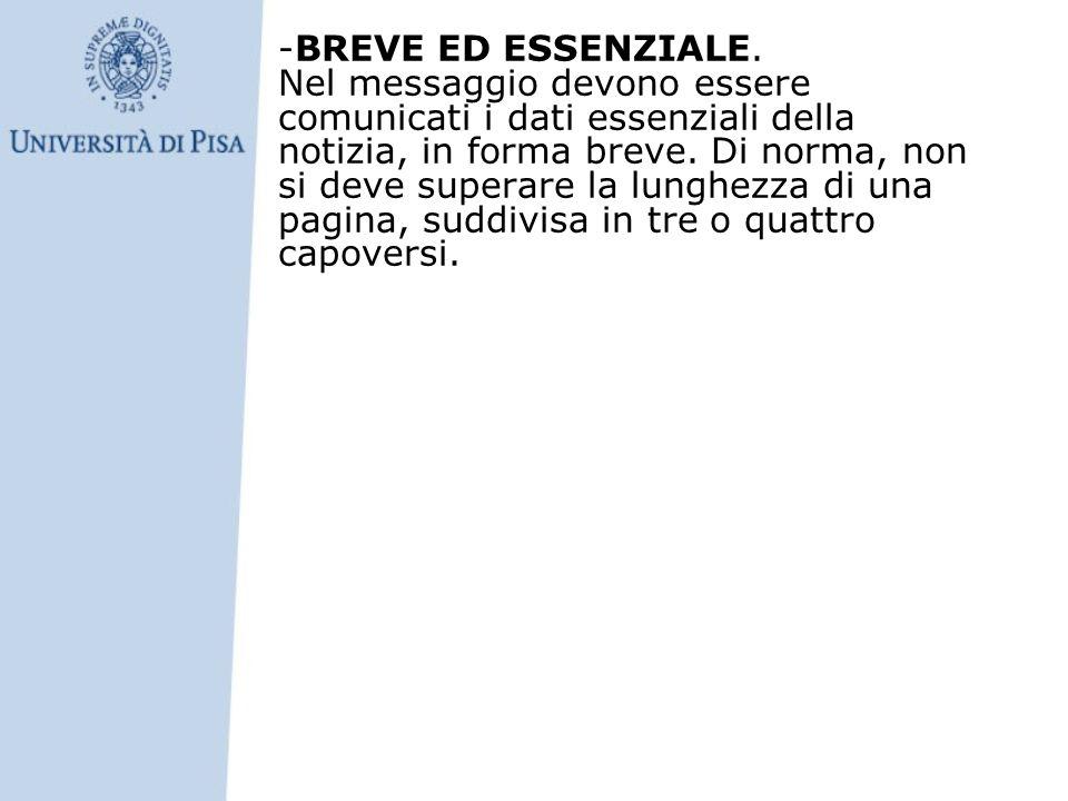 -BREVE ED ESSENZIALE.