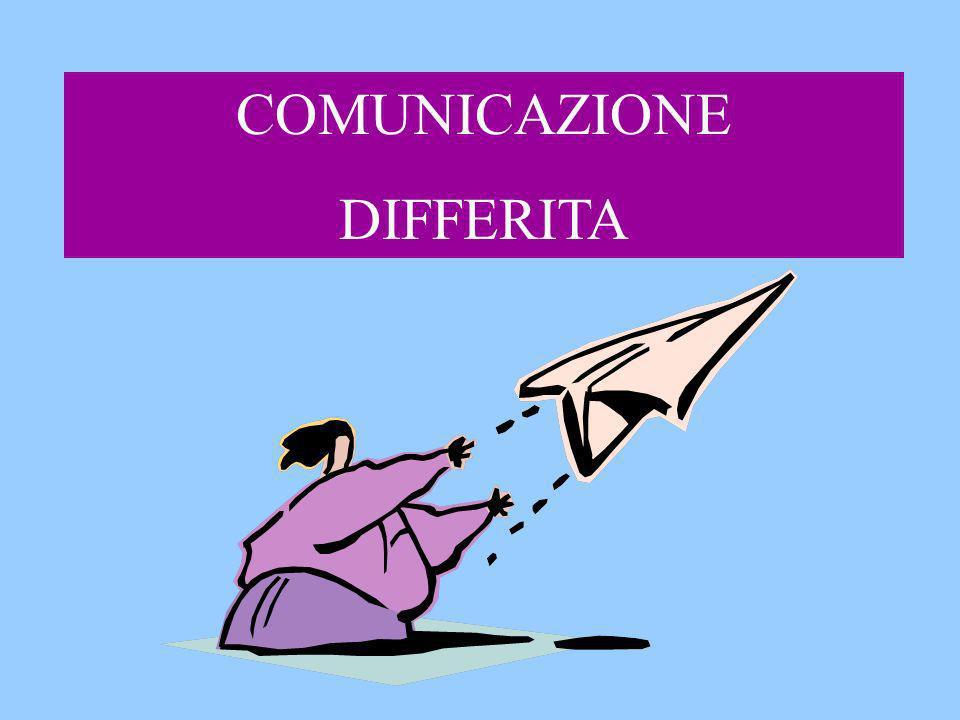 COMUNICAZIONE DIFFERITA
