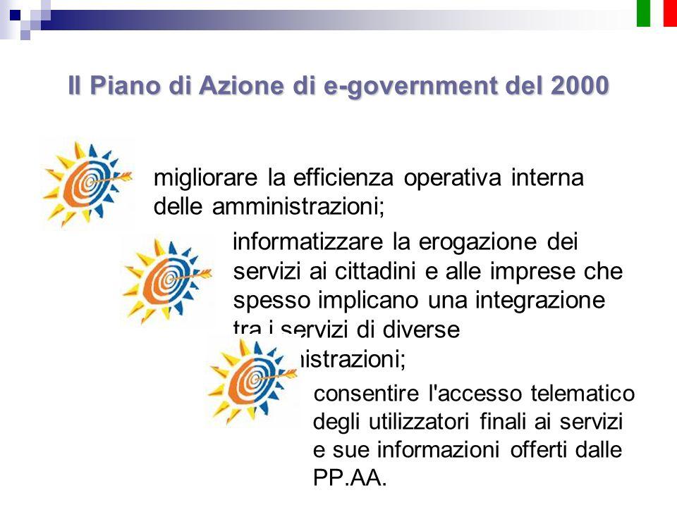 migliorare la efficienza operativa interna delle amministrazioni; informatizzare la erogazione dei servizi ai cittadini e alle imprese che spesso impl