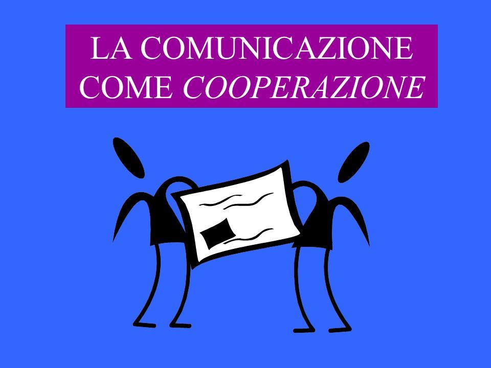 LA COMUNICAZIONE COME COOPERAZIONE