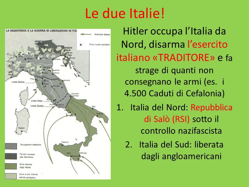 La guerra Partigiana La RSI chiama alle armi molti giovani italiani MOLTI NON SI PRESENTANO E SI UNISCONO ALLE FORMAZIONI PARTIGIANE, CHE COMINCIANO LA GUERRIGLIA CONTRO I NAZIFASCISTI, che controllano lItalia fino alla LINEA GUSTAV