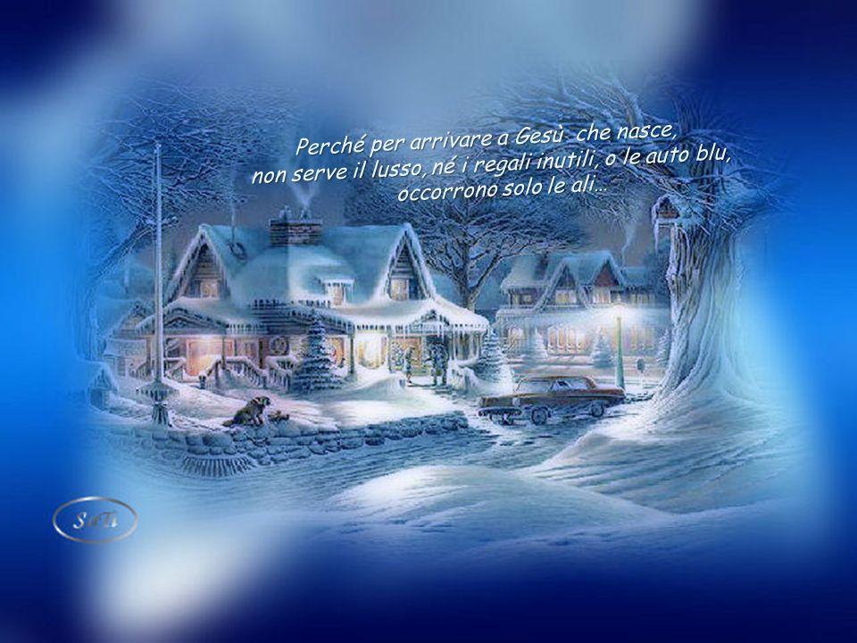 Piccolo angelo, allungo per te la mia mano e aggiungo una piuma, come posso… Ma tanta è la gente che cammina verso quella capanna, verso un Natale dAm