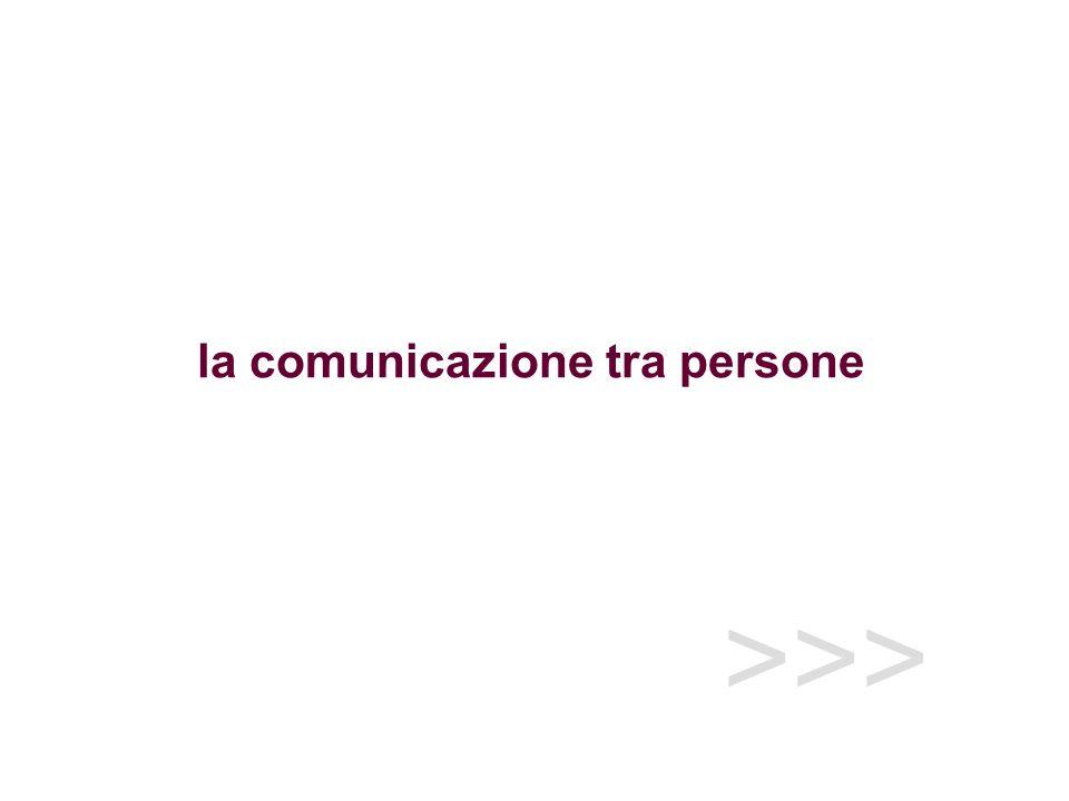 >>> la comunicazione tra persone