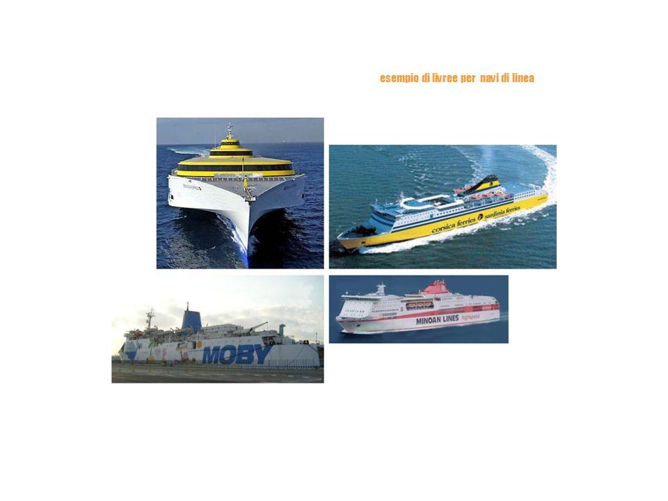 esempio di livree per navi di linea
