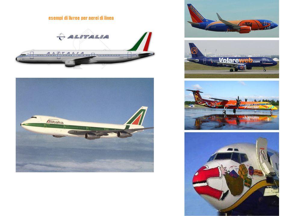 esempi di livree per aerei di linea