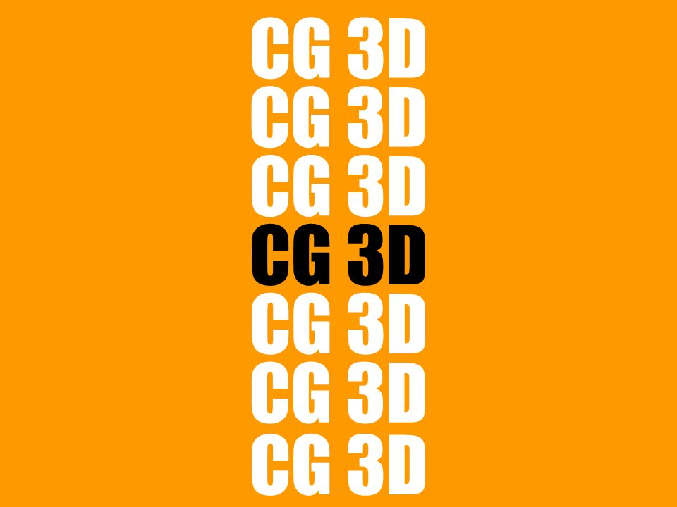 >>> CG 3D acronimo di: Computer Graphic tridimensionale