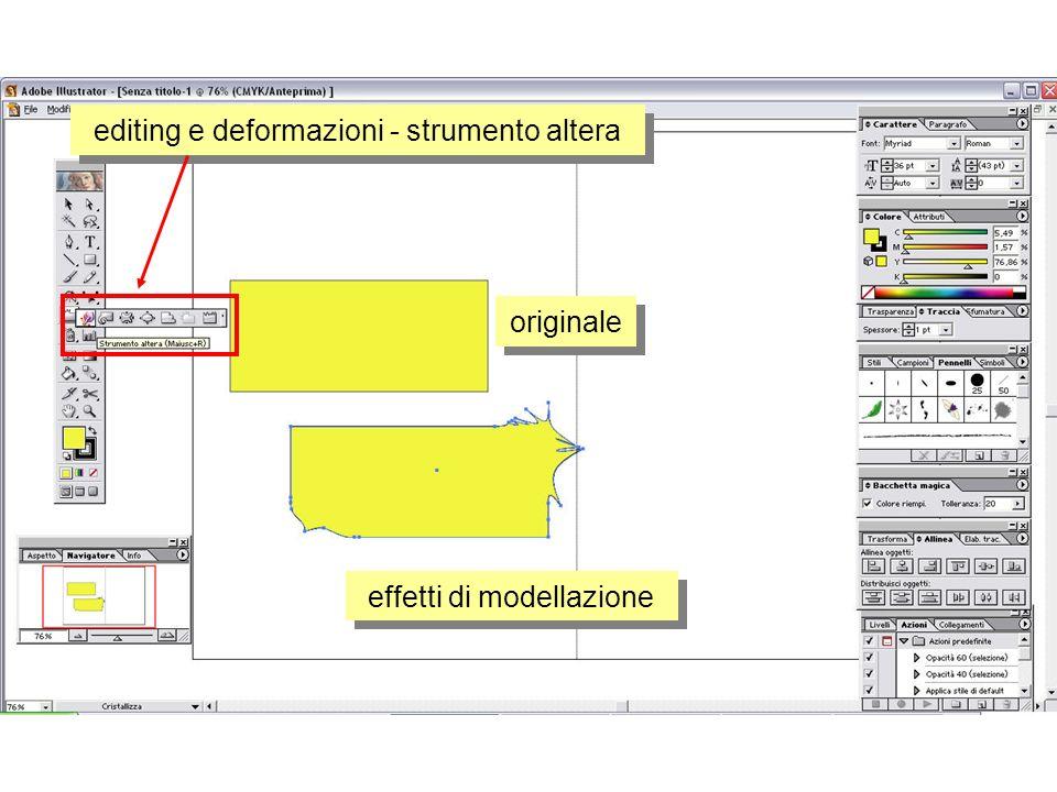 editing e deformazioni - strumento altera effetti di modellazione originale