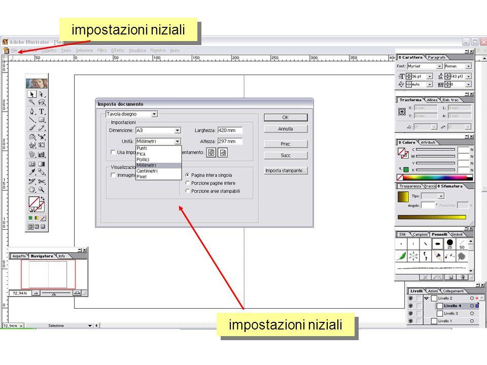 strumento pennello specifiche numeriche di disegno - preview proprietà ed opzioni
