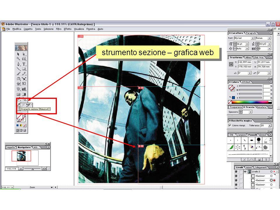 strumento sezione – grafica web