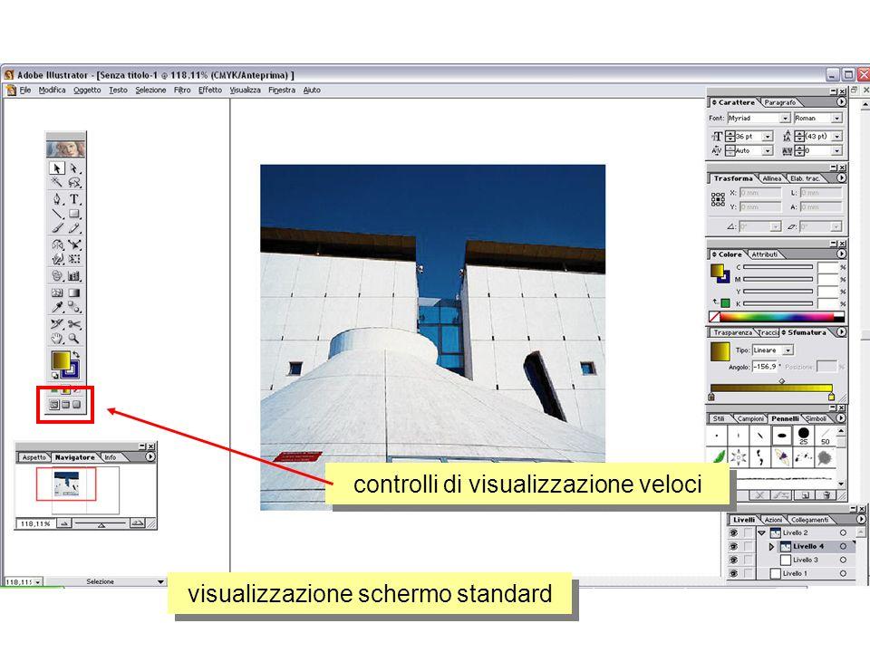controlli di visualizzazione veloci visualizzazione schermo standard