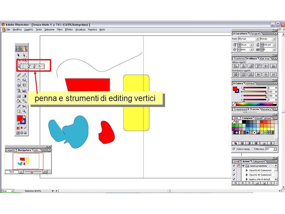 strumenti di disegno forme trasformazioni ed allineamento ogetti