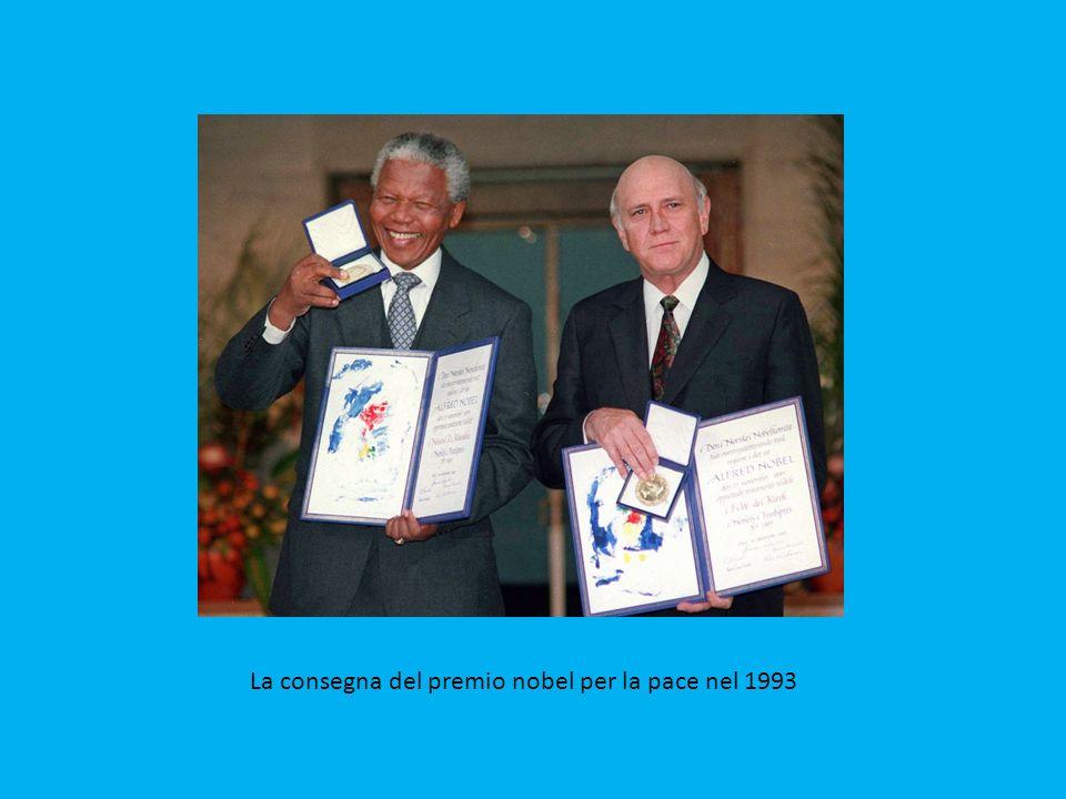 Il giuramento di Mandela da presidente sudafricano nel 1994