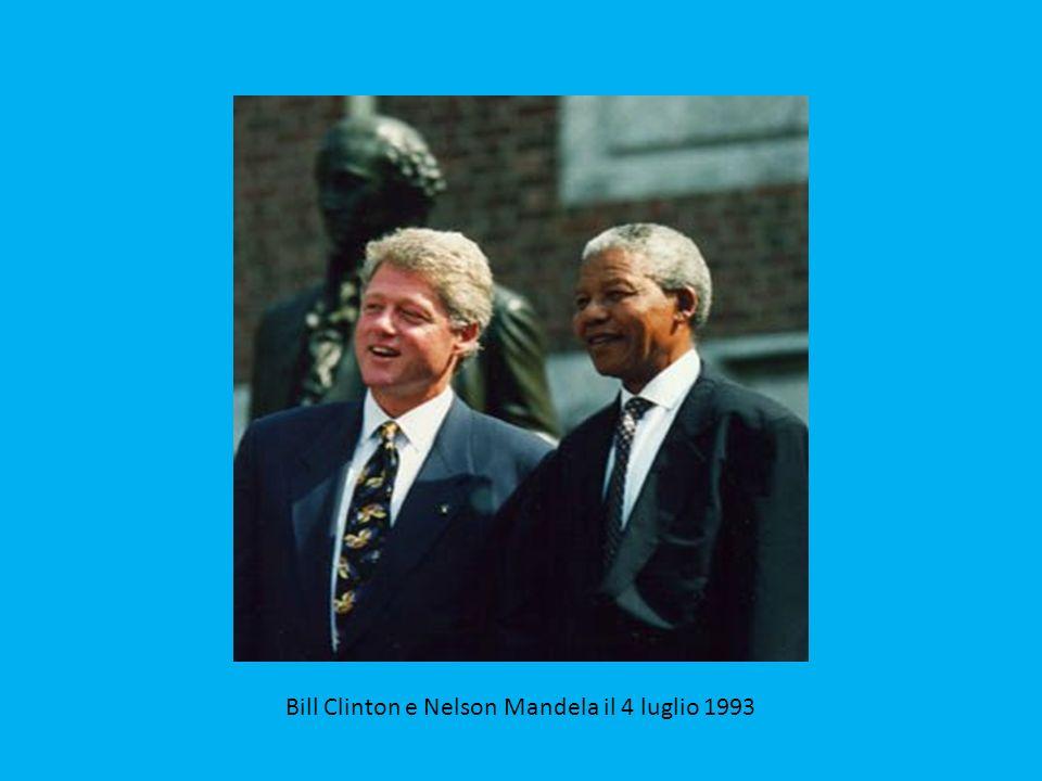 La consegna del premio nobel per la pace nel 1993