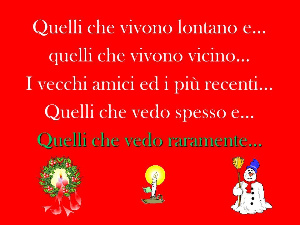 Desidero in questo Natale creare un albero dentro al mio cuore,..ed al posto dei regali, Mettere i nomi dei miei amici