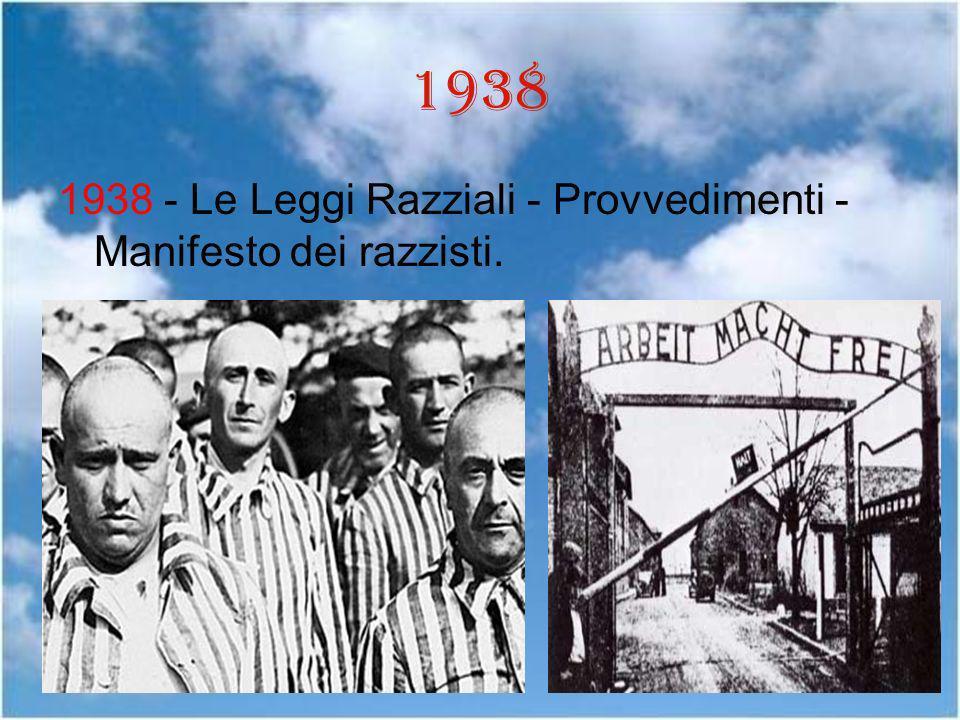 1938 1938 - Le Leggi Razziali - Provvedimenti - Manifesto dei razzisti.