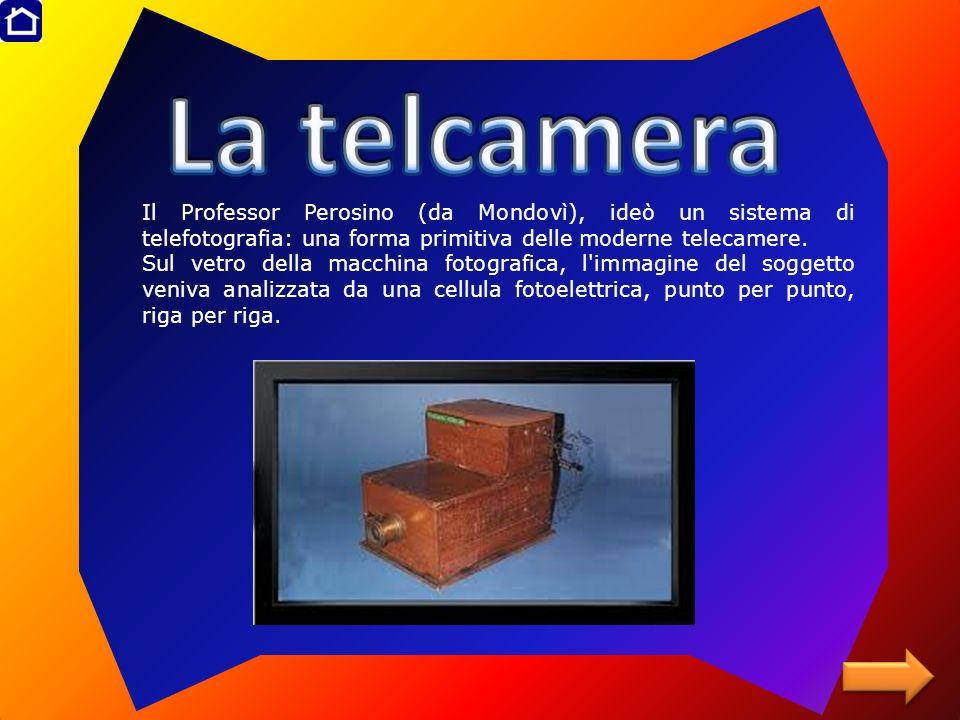 Il Professor Perosino (da Mondovì), ideò un sistema di telefotografia: una forma primitiva delle moderne telecamere. Sul vetro della macchina fotograf