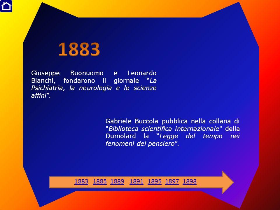 Giuseppe Buonuomo e Leonardo Bianchi, fondarono il giornale La Psichiatria, la neurologia e le scienze affini. Gabriele Buccola pubblica nella collana