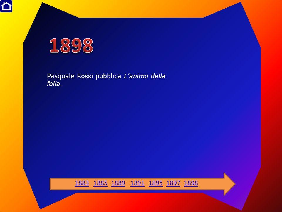Pasquale Rossi pubblica L'animo della folla. 1883188518891891189518971898