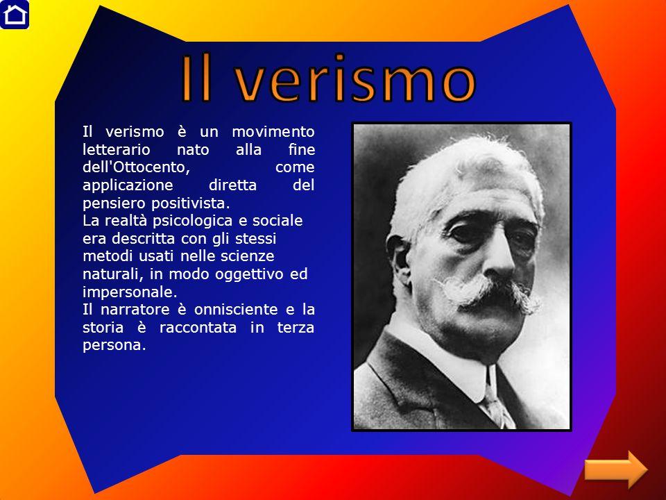 Il verismo è un movimento letterario nato alla fine dell'Ottocento, come applicazione diretta del pensiero positivista. La realtà psicologica e social