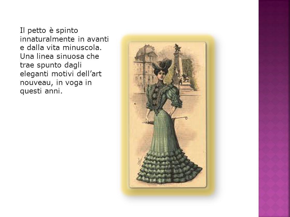 Con il 1910 si afferma un nuovo modello di abito che segna una profonda rottura con la moda precedente.