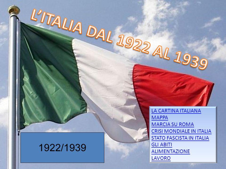Gruppo 51 LA CARTINA ITALIANA MAPPA MARCIA SU ROMA CRISI MONDIALE IN ITALIA STATO FASCISTA IN ITALIA GLI ABITI ALIMENTAZIONE LAVORO 1922/1939