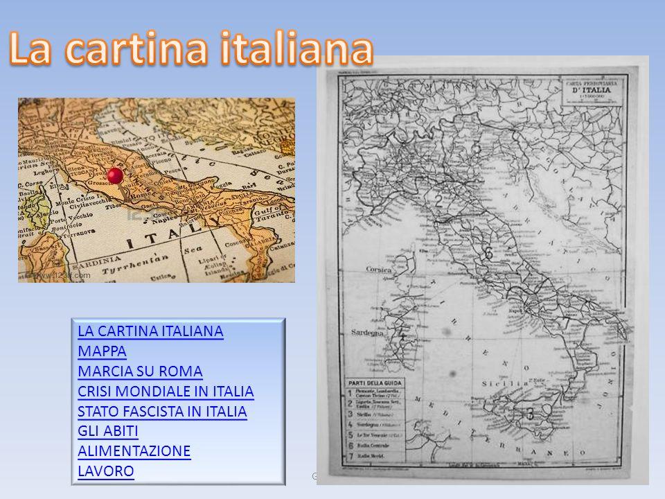 Gruppo 52 LA CARTINA ITALIANA MAPPA MARCIA SU ROMA CRISI MONDIALE IN ITALIA STATO FASCISTA IN ITALIA GLI ABITI ALIMENTAZIONE LAVORO